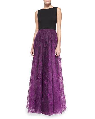 Blossom Skirt Overlay Gown
