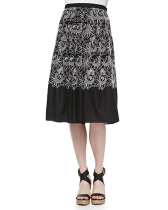 Cropped Embroidered Eyelet Top & Party Skirt