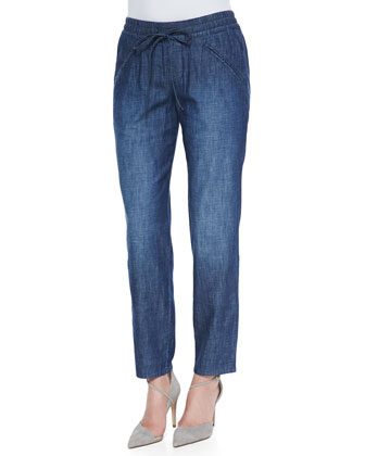 Goldie Drawstring Pants, Indigo