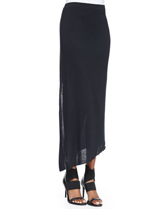 Strata Printed/Solid Slub Tank & Kinetic Jersey Long Wrap Skirt