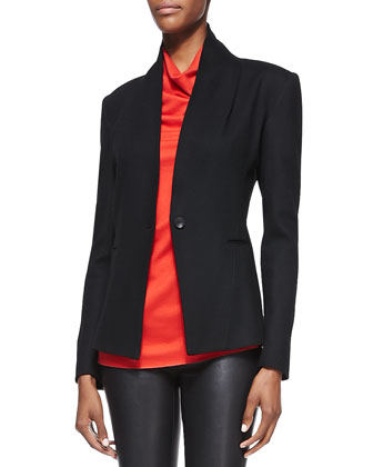 Sonar-Knit Long-Sleeve Blazer