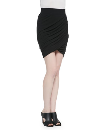 Nova Draped Ruched Mini Skirt