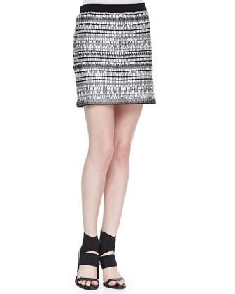 Tweed Variant Grid Long-Sleeve Top & Skirt