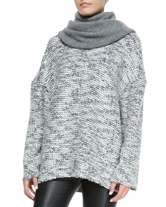 Luxe Cashmere-Blend Knit Snood