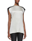 Gravel Silk Sleeveless Top