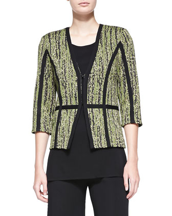 Gold Metallic 3/4-Sleeve Jacket, Petite