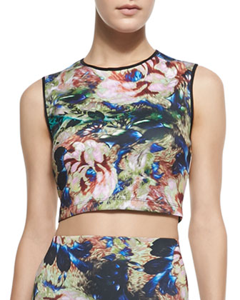 James Joyce Printed Crop Top