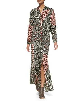 Animalia Long-Sleeve Maxi Dress, Women's