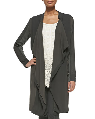 Veranda Combo Draped Jacket, Women's