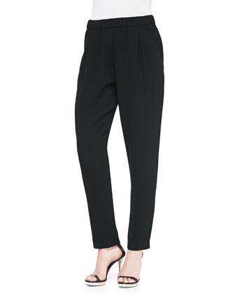 Silk Relaxed Jogger Pants