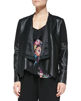 Scuba-Inset Lambskin Jacket