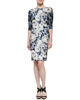 Chesney Floral-Print Sheath Dress
