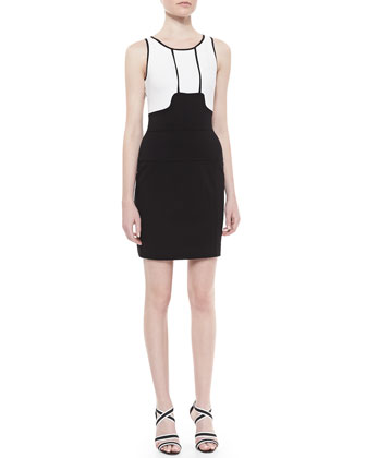 Memphis Textured Body-Conscious Dress