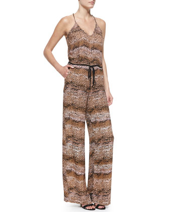 Ginger Soft-Jersey Halter-Neck Jumpsuit