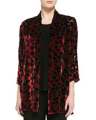 Dancing Dot Jacket, Black/Red