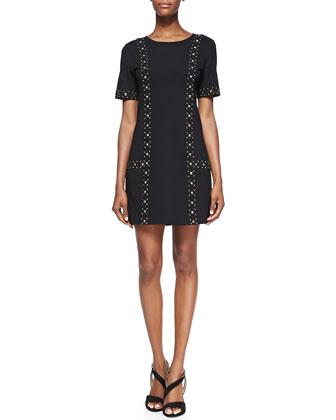 Naomi Studded Ponte Dress