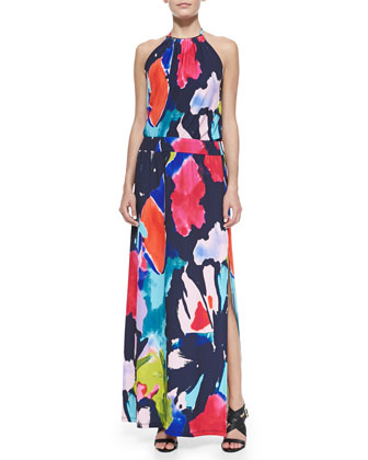 Shirley Jersey Halter Maxi Dress