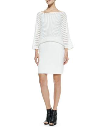 Penrose Overlay & Knit Dress
