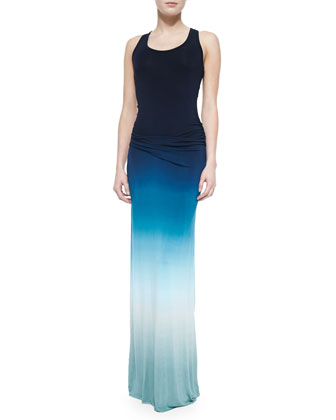 Hamptons Ombre Slub Maxi Dress