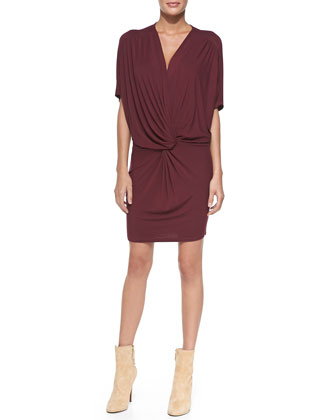 Jennings Twist-Front Jersey Dress