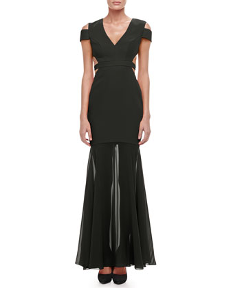 Ava Cutout Mermaid Gown