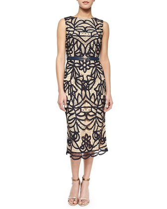 Abigail Lace Boat-Neck Sheath Dress