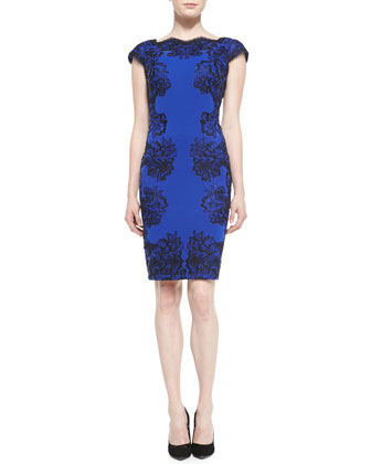 Lace-Appliqu?? Cocktail Dress