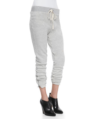 Betsee Drawstring Pull-On Pants, Heather Gray