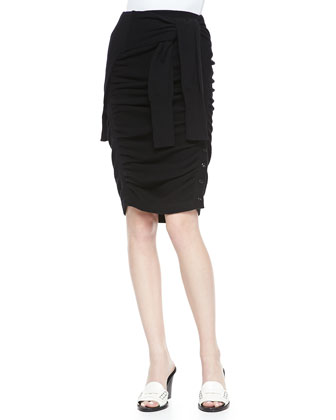 Ruched Sweater-Illusion Skirt