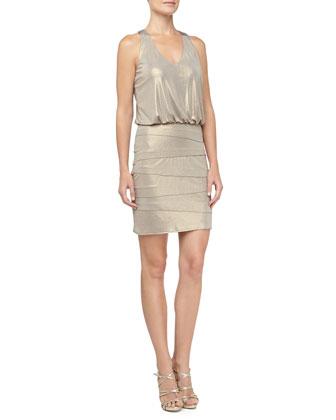 Tiered Skirt Blouson Dress