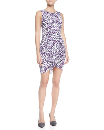 Colman Printed Wrap-Hem Dress
