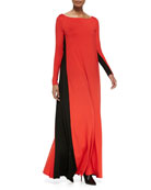 Verona Two-Tone Maxi Dress, Women's