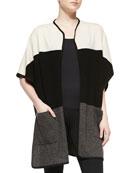 Cashmere Colorblock Open Cardigan