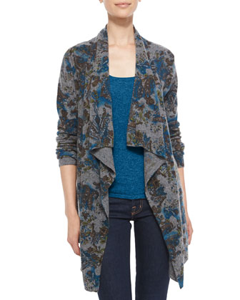 Draped Paisley Cashmere Cardigan and Tank