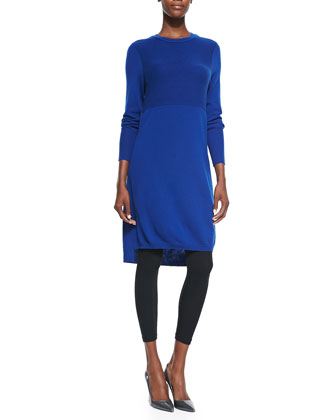 Cashmere Long-Sleeve Dress/Tunic