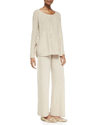 Two-Piece Cashmere Sweater & Pants Set