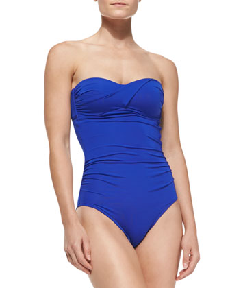 Infinity Gathered Bandeau One-Piece Swimsuit