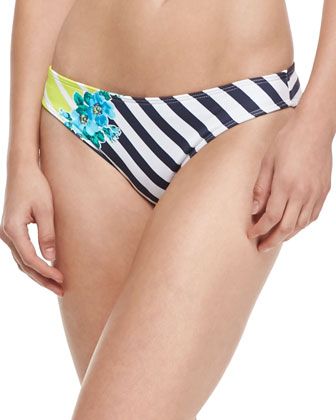 Placement Print Hipster Swim Bottom