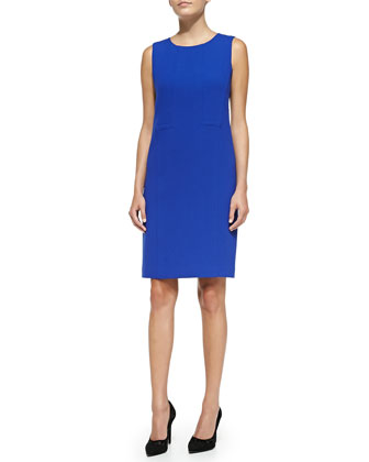 Esther Sleeveless Seamed Shift Dress