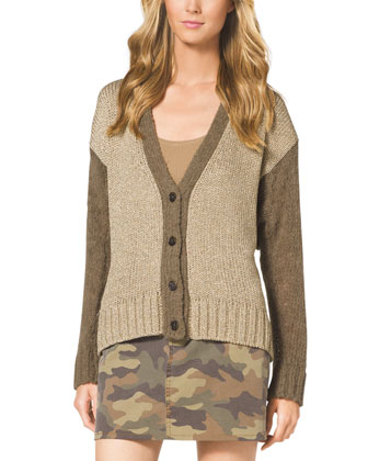 Two-Tone Boyfriend Cardigan