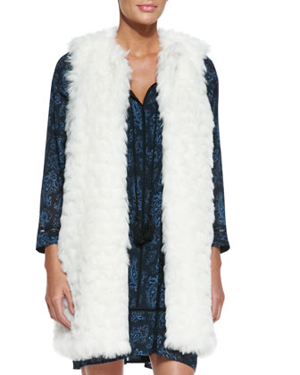 Faux-Fur Long Vest