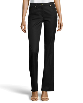 Tamara Twill Wide Leg Pants, Black