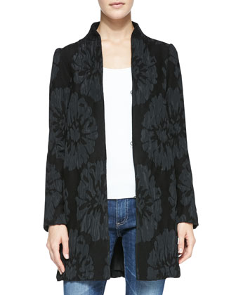 Long-Sleeve Luxe Garden Coat
