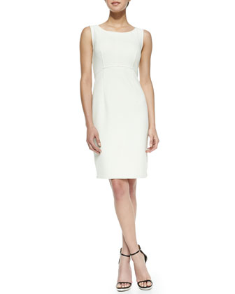 Multi-Zip Sleeveless Sheath Dress