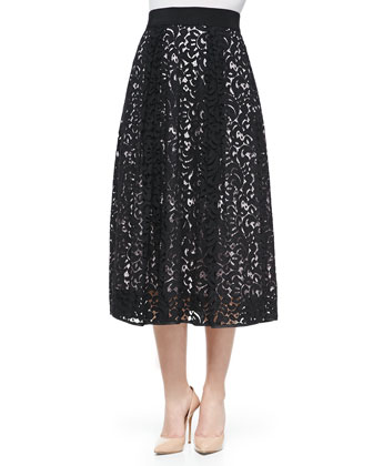 Lace Tea-Length Skirt