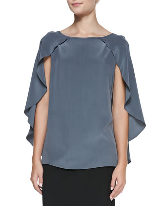 Nikki Cape-Sleeve Blouse