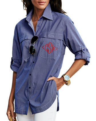 Monogram Double-Pocket Fishing Shirt