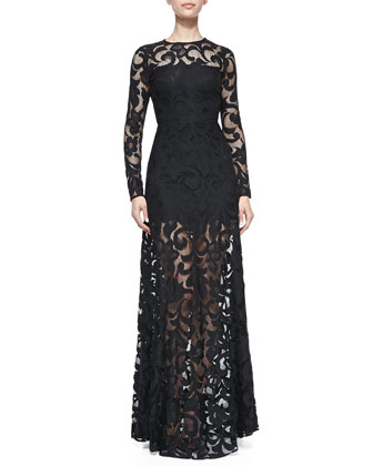 Maribor Lace Open-Back Gown