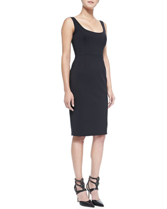 Classic Edie Stretch-Knit Dress, Black
