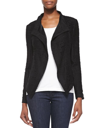 Abbie Peaked Cutout Jacket, Black